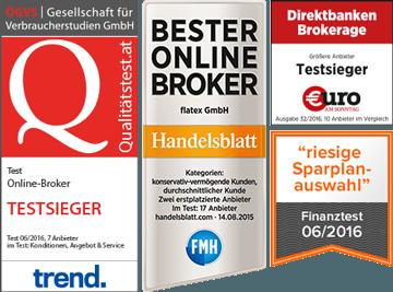 flatex-depot-Österreich auszeichnungen